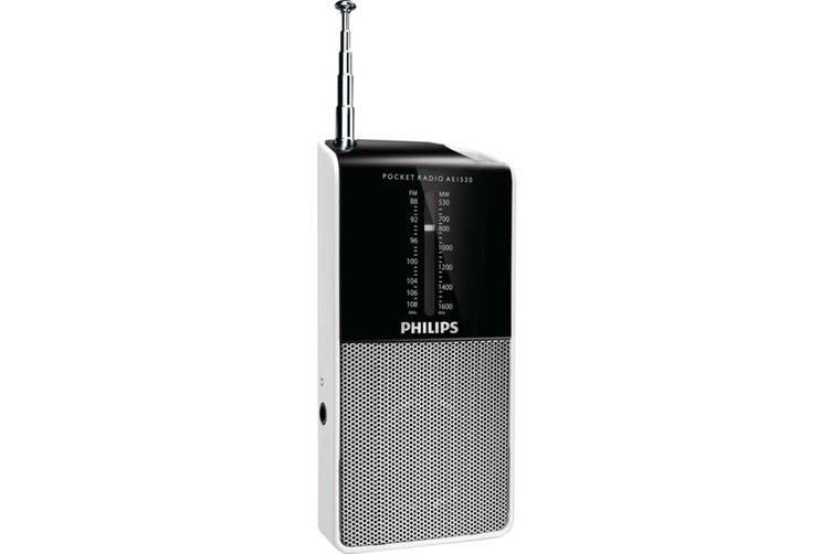 Philips Portable Pocket Size AM/FM Radio 3.5mm Headphone