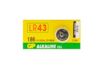 LR43 BUTTON CELL ALKALINE GP