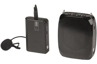 DIGITECH Portable Wireless UHF Lapel Microphone System suitable for spruiking