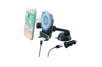 QI Wireless ChargerWith Suction Mount Phone Holder