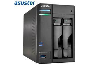 Asustor 2Bay NAS Intel Celeron J3355 Dual Core 2.0GHz 2GB DDR3L Virtualization