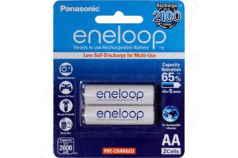 Panasonic Eneloop Ni-MH 1.2V 2000mAH - AA 2 Pack
