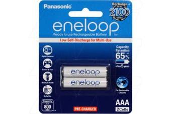Panasonic Eneloop Ni-MH 1.2V 800mAH AAA Rechargeable Battery 2Pack