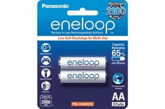 2 Pack AA Eneloop Batteries Rechargeable LSD Panasonic