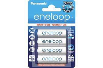 Panasonic 4 Pack AA Eneloop Batteries Rechargeable LSD