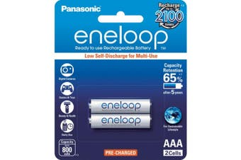 2 Pack AAA Eneloop Batteries Rechargeable LSD Panasonic