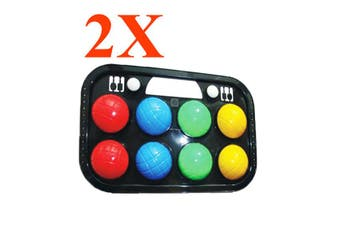 Orbit 2X Orbit 8 brightly-coloured Piece Bocce Ball Set In Case