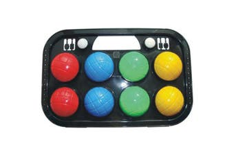 Orbit  8  brightly-coloured Bocce Ball Set In Case for beginners 2-4 players