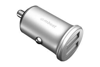 Mini Cig Dual USB Car Charger 2XUSB 5V 2.4A Aluminium