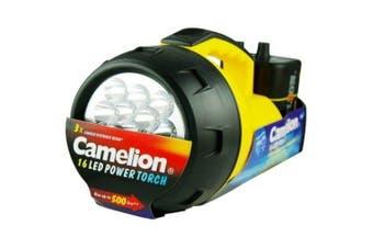 Camelion Multi Head Flashlight Torch 16LED 6V INC Battery