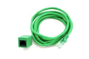 8Ware RJ45 Male to Female Cat5e Network Ethernet Standard Extension Cable 2m