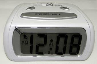 XTIME LCD Alaram Clock White