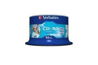 50PK Verbatim CD-R Printable Spindle / Bucket