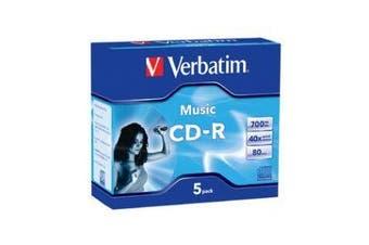 Verbatim CD-R 80Min 5Pk Audio 40x High Fidelity Audio Recording
