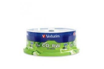 Verbatim CD-RW 700MB 25Pk Spindle 12x Advanced Super-Eutectic Recording Tech