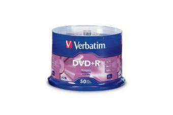 Verbatim DVD and R 4.7GB 50 Pack Spindle 16x Advanced AZO Recording Dye