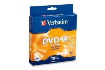Verbatim DVD-R 4.7GB 10 Pack Spindle 16x Advanced Azo Recording Dye