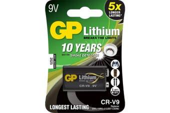 GP 9V Lithium Battery 10 Year Smoke Alarm Life sed for Satellite&Terrestrial TV