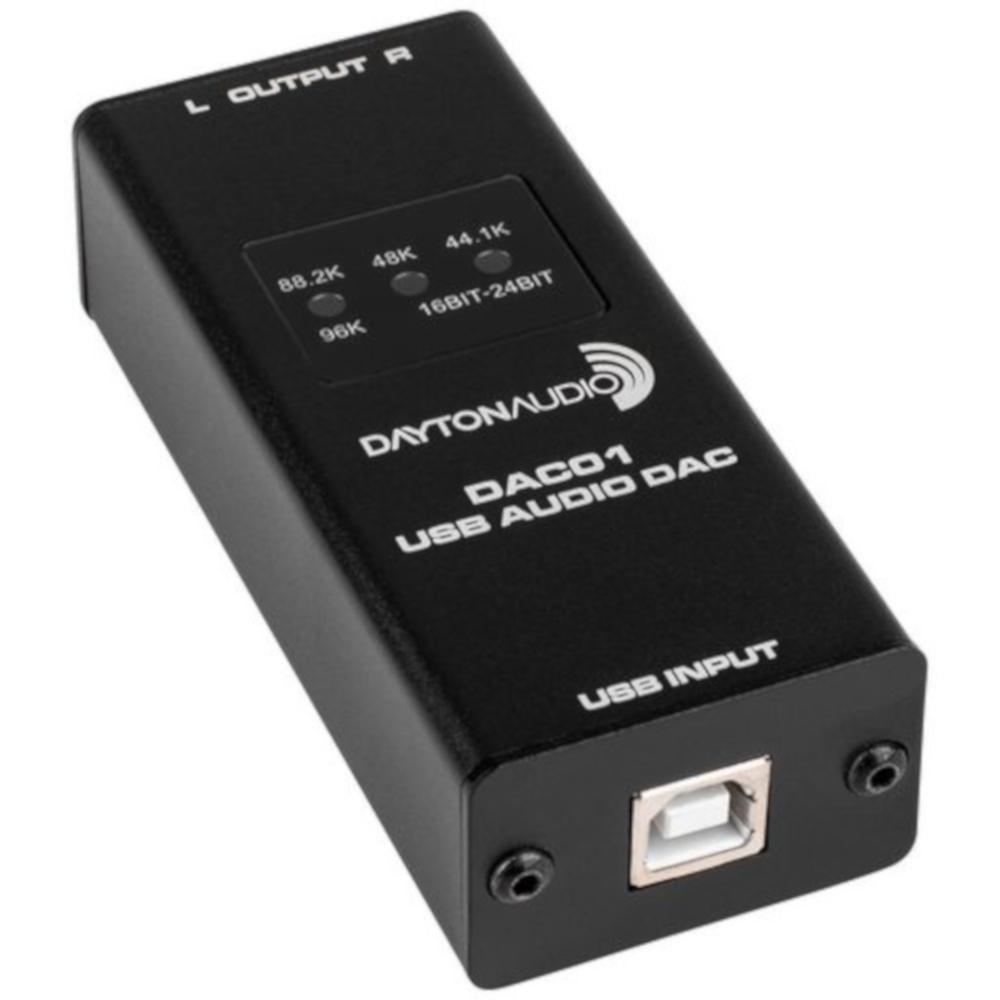 Dayton Audio DAC01 USB Audio DAC 24-bit//96 kHz RCA Output