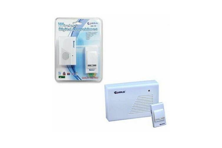 Sansai Wireless Digital Door Chime Effective Remote Control LED Indicator