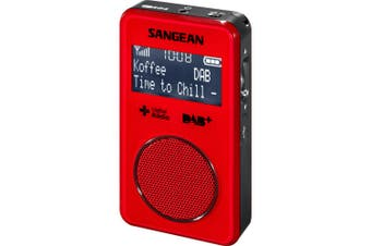 SANGEAN Red DAB+ FM-RDS Pocket Radio Sangean
