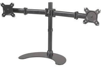 Dual PC Monitor Desk Stand desktop unit will accommodate two monitors up to 27 each