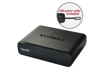 EDIMAX 5 Port Giga Desktop Switch Optional USB Power