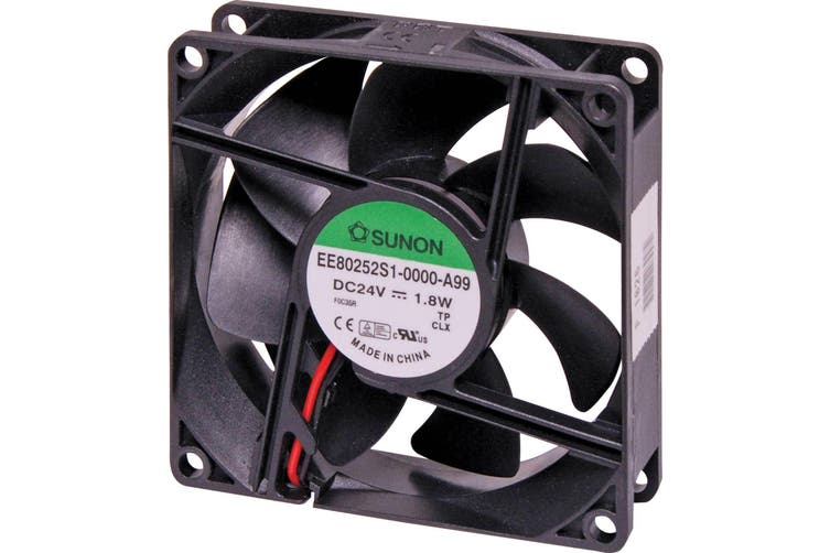 SUNON Performance Cooling Fan Sleeve Bearing 80x80x25mm 24VDC 3200RPM