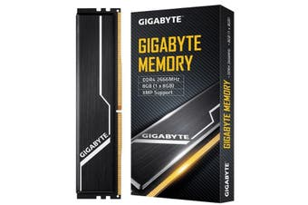 Gigabyte Gaming Memory 8GB DDR4 2666MHz C16 1.2V 2.0 Dual Channel PC Desktop RAM