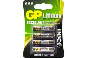 1.5V AAA Lithium Fro3 Pack -4 GP