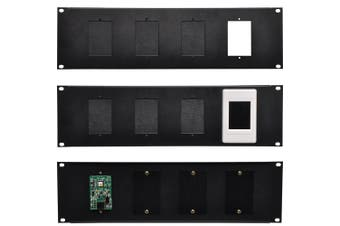3U 4  Wall Plate 19 Rack Mount Panel
