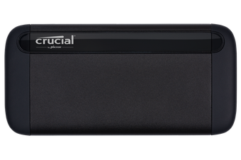 Crucial X8 500GB External Portable SS Drive Slim Durable Rugged Shock Proof