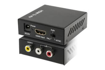 Pro2 HDMI To Composite Converter Support NTSC PAL output CBVS Stereo Audio