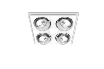 Heller 3 in 1 Ceiling Bathroom Exhaust Fan w Heater Heat Globes LED Light White