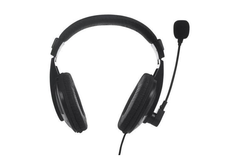 wired stereo Headset with Boom Mic - 2X 3.5mm Plugs with Volume Control