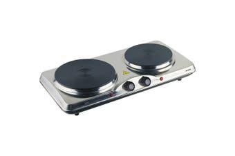 Maxim HP2 Portable Electric Dual Hot Plate Cooker Cooktop Caravan Stove  2400w