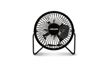 Heller HVF10 10cm Personal Mini Desk Fan USB Powered Black