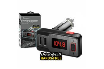 Sansai Bluetooth Car Kit FM Transmitter supports USB  Aux-in and Micro SD