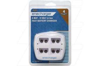 EnechargerJBC002-11100-240VAC Input Smart Charger suits up to 4 x 9V batteries