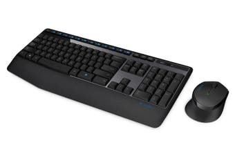 Logitech Wireless Keyboard and Mouse Combo Full Size 12 Media Key Long Battery