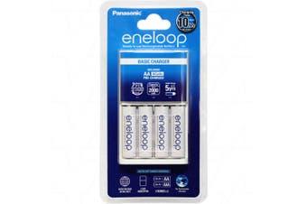 Eneloop 10HR Standard Charger with 4 Bonus LSD AA Batteries