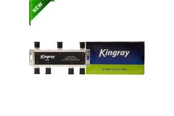 Kingray 6 way F-Type Splitter Foxtel Approved F30964 Splitters Taps