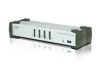 Aten Petite 2 Port USB DVI KVM Switch with Audio Remote Port Selector 1.2m Cable