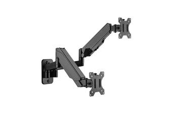 Brateck Dual Wall Mounted Gas Spring Monitor Arm For 17-32 Inch 8kg Capacity