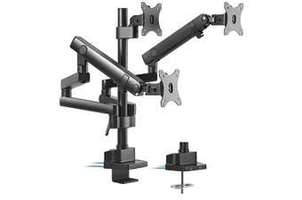 Brateck Triple Monitor Aluminum Slim Pole Held Mechanical Spring Monitor Arm