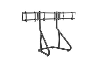 Brateck Height Adjustable Triple Monitor Stand-Perfect Viewing in the Game