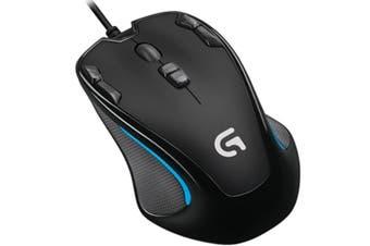 Logitech Optical Ambidextrous USB Gaming Mouse 2500DPI Onboard Memory
