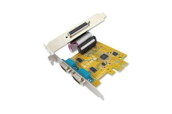 Sunix MIO6479A PCIE 2-port Serial RS-232 and 1-port Parallel IEEE1284 Card