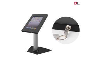 AntiTheft Secure Enclosure Countertop Black iPad Stand Adjustable Height Brateck
