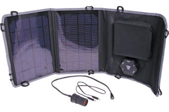 Powertran 10W 6 -15V Fold Out Portable Solar Battery Charger